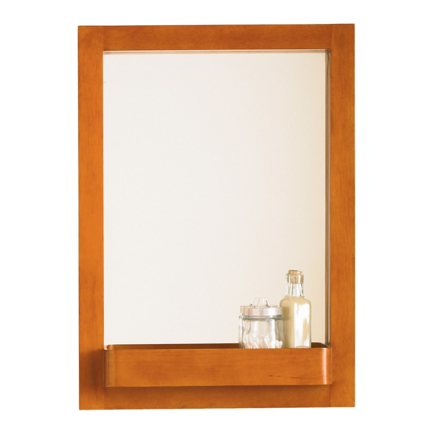 DECOLAV Bathroom Furniture 22-in W x 31-in H Cherry Rectangular Bathroom Mirror
