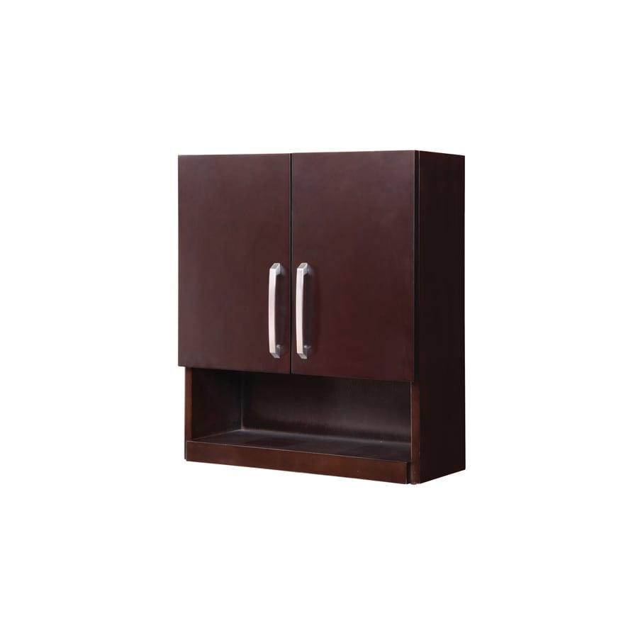 DECOLAV Cameron Modular 22-in W x 26-in H x 9-in D Espresso Bathroom Wall Cabinet
