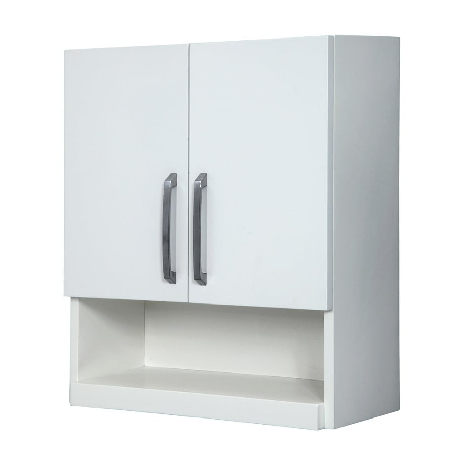 DECOLAV Cameron Modular 22-in W x 26-in H x 9-in D White Bathroom Wall Cabinet