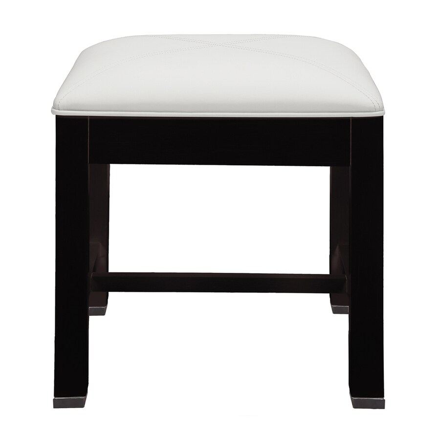 DECOLAV 16 In H Espresso Square Makeup Vanity Stool