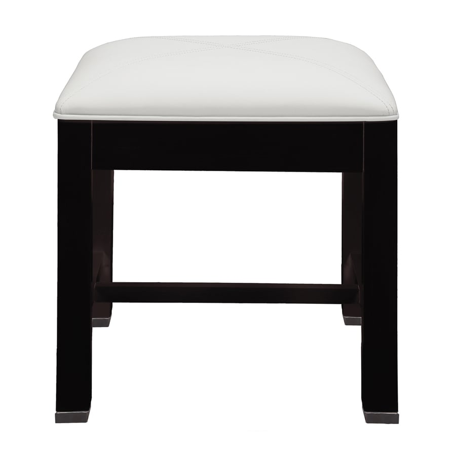 DECOLAV 16-in H Espresso Square Makeup Vanity Stool - Shop Makeup Vanity Stools At Lowes.com