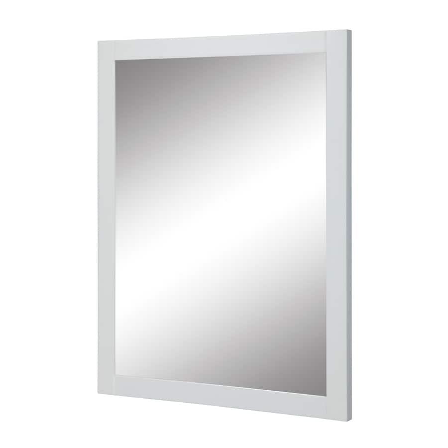 DECOLAV Cameron 24-in W x 32-in H White Rectangular Bathroom Mirror
