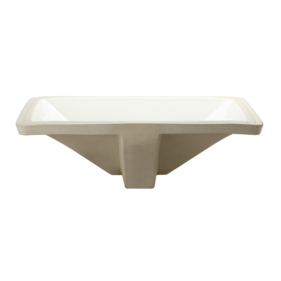 DECOLAV Classically Redefined Biscuit Undermount Rectangular Bathroom Sink with Overflow