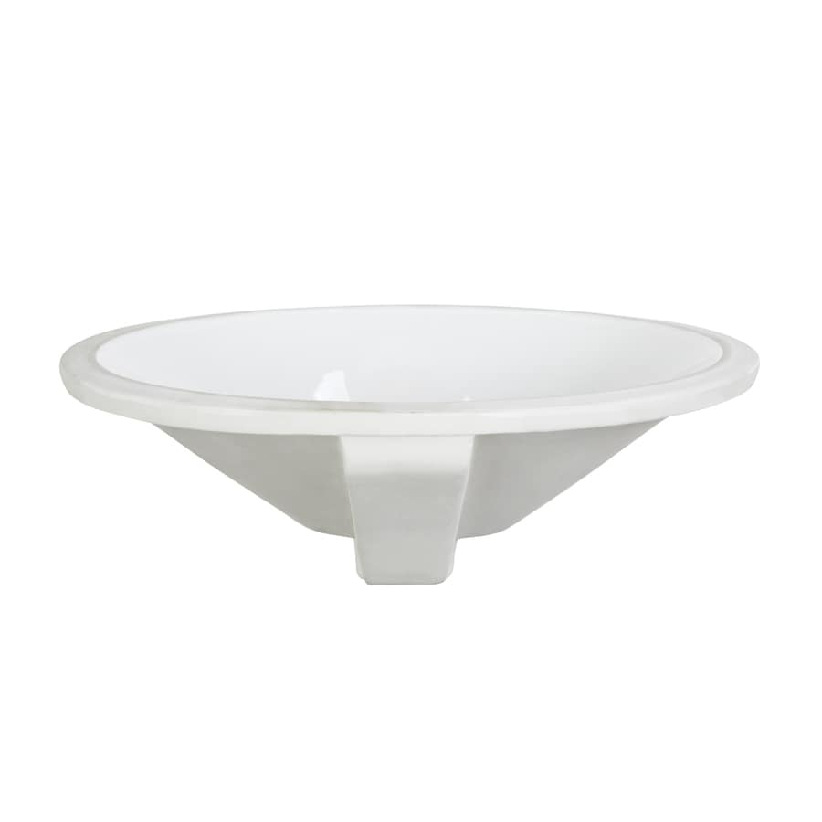 Shop Decolav Classically Redefined White Undermount Oval