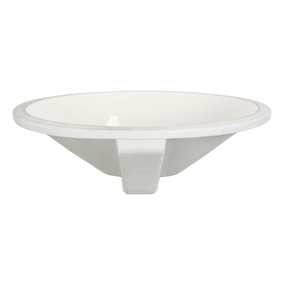 DECOLAV Classically Redefined Biscuit Undermount Oval Bathroom Sink with Overflow