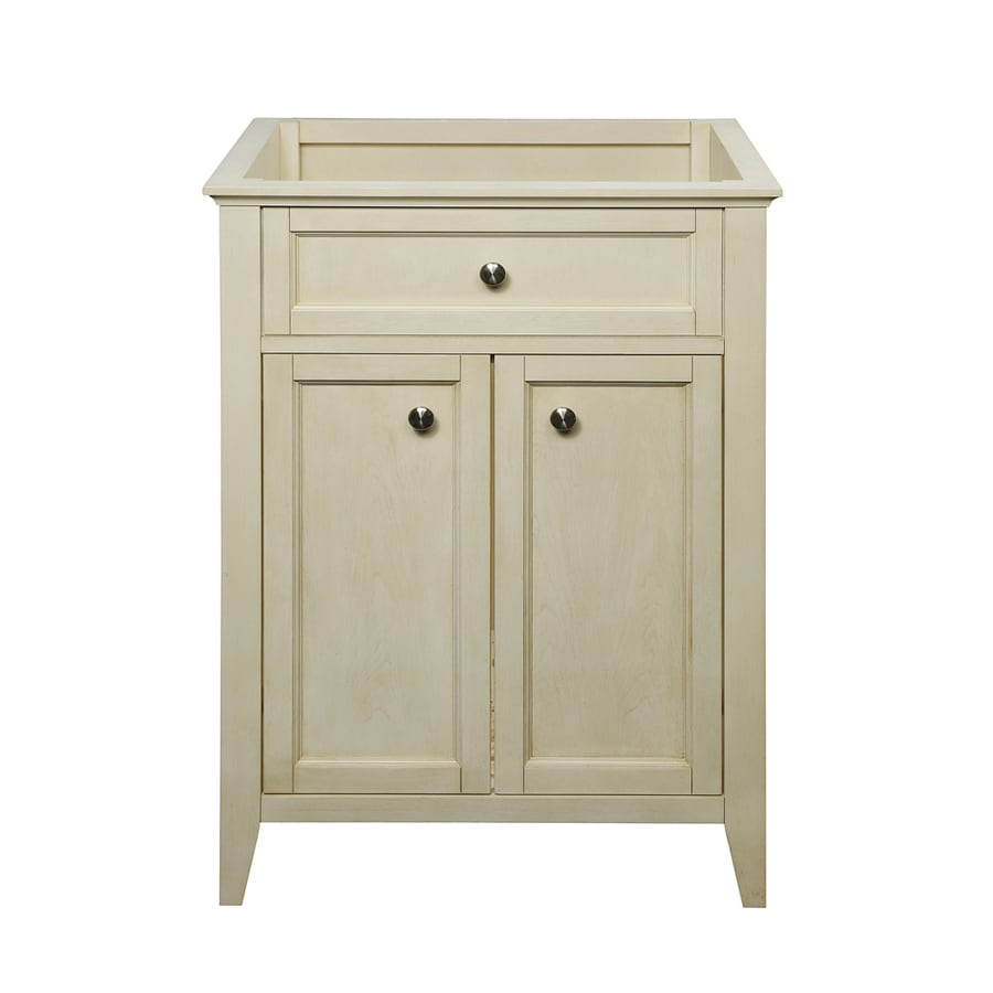 DECOLAV Jordan Modular Antique White Bathroom Vanity (Common: 24-in x 22-in; Actual: 24.75-in x 21.88-in)