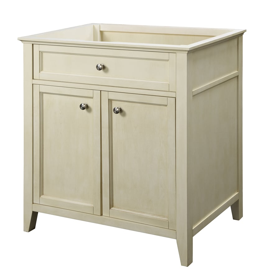 DECOLAV Jordan Modular Antique White (Common: 30-in x 22-in) Contemporary Bathroom Vanity (Actual: 30.75-in x 21.88-in)
