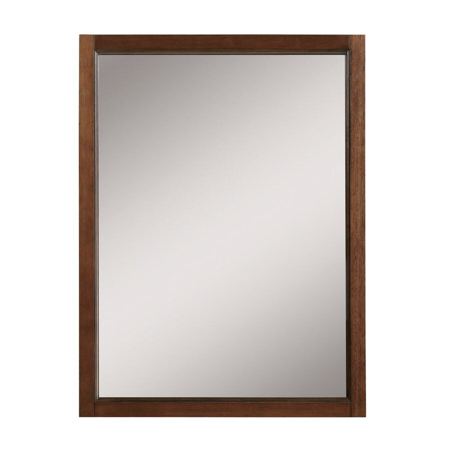 Mahogany Bathroom Mirror: DECOLAV Jordan 24-in W X 32-in H Mahogany Rectangular