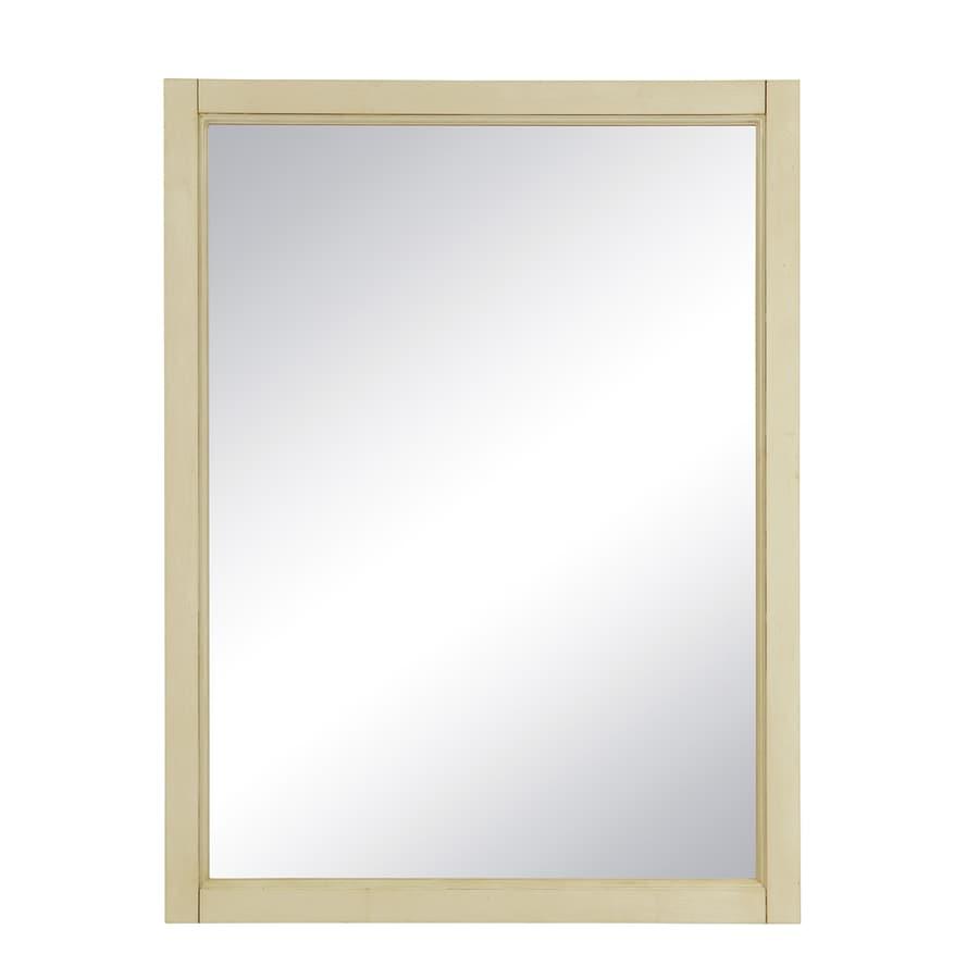 DECOLAV Jordan 24-in W x 32-in H Antique White Rectangular Bathroom Mirror