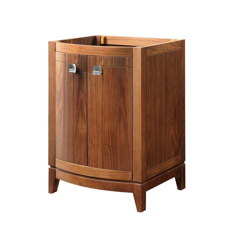 Shop Decolav Gavin Medium Walnut Bathroom Vanity Common 24 In X 22 In Actual 24 In X 21 5 In