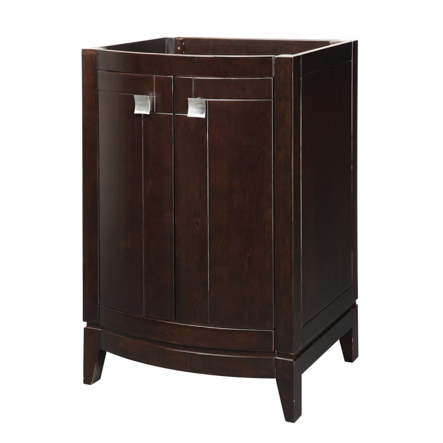 Shop decolav gavin espresso bathroom vanity common 24 in for Bathroom 24 inch vanity