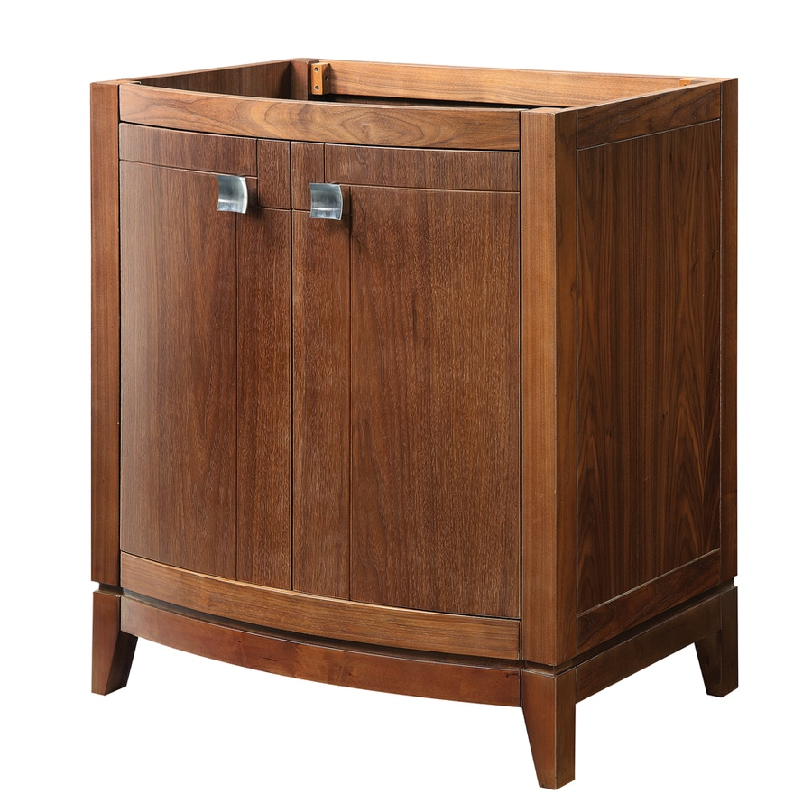 DECOLAV Gavin Medium Walnut 30-in Contemporary Bathroom Vanity