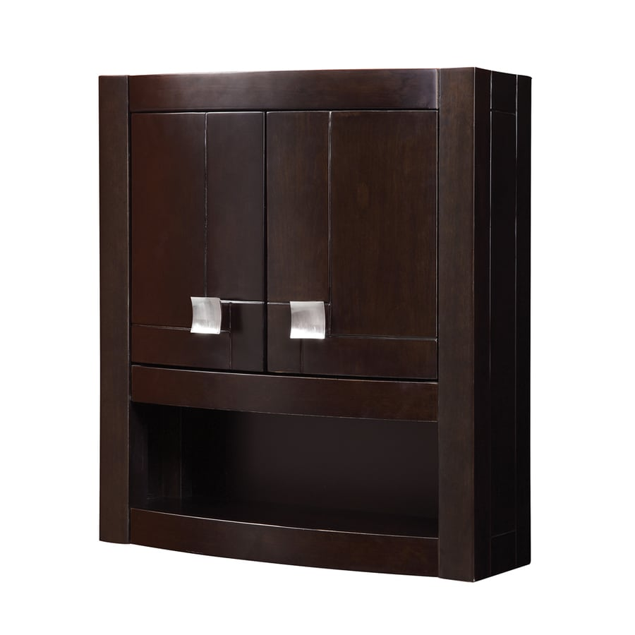 23 in w x 26 in h x 9 in d espresso bathroom wall cabinet at