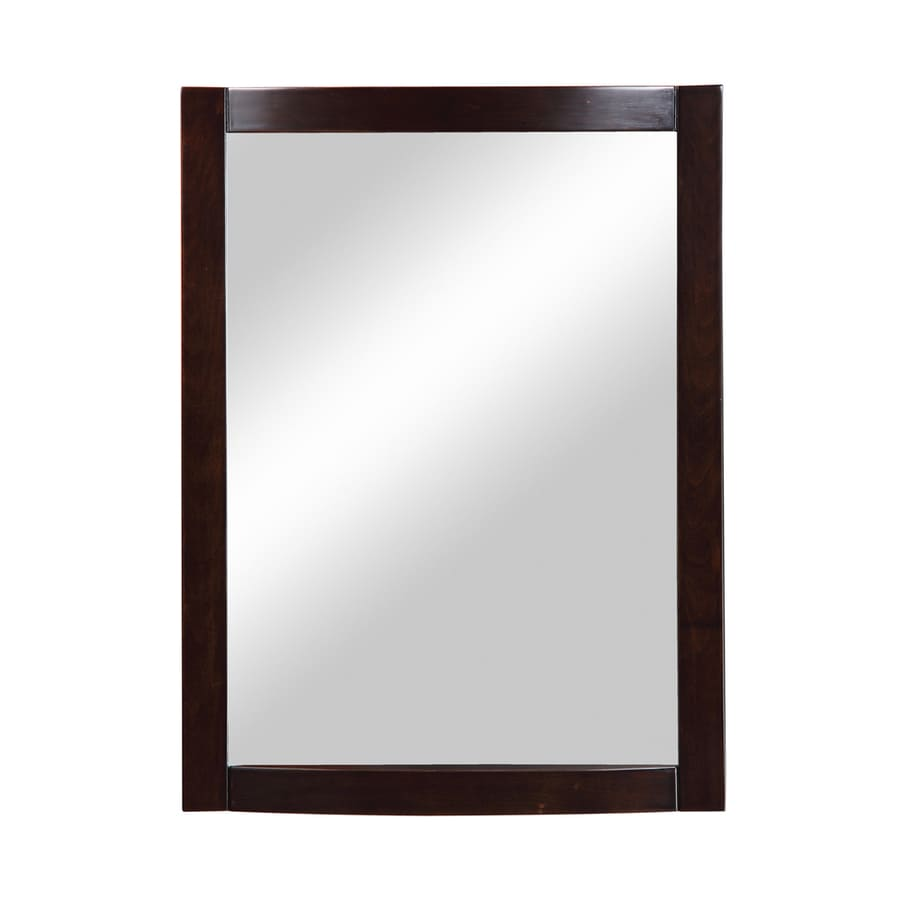 DECOLAV Gavin 24-in W x 32-in H Espresso Rectangular Bathroom Mirror