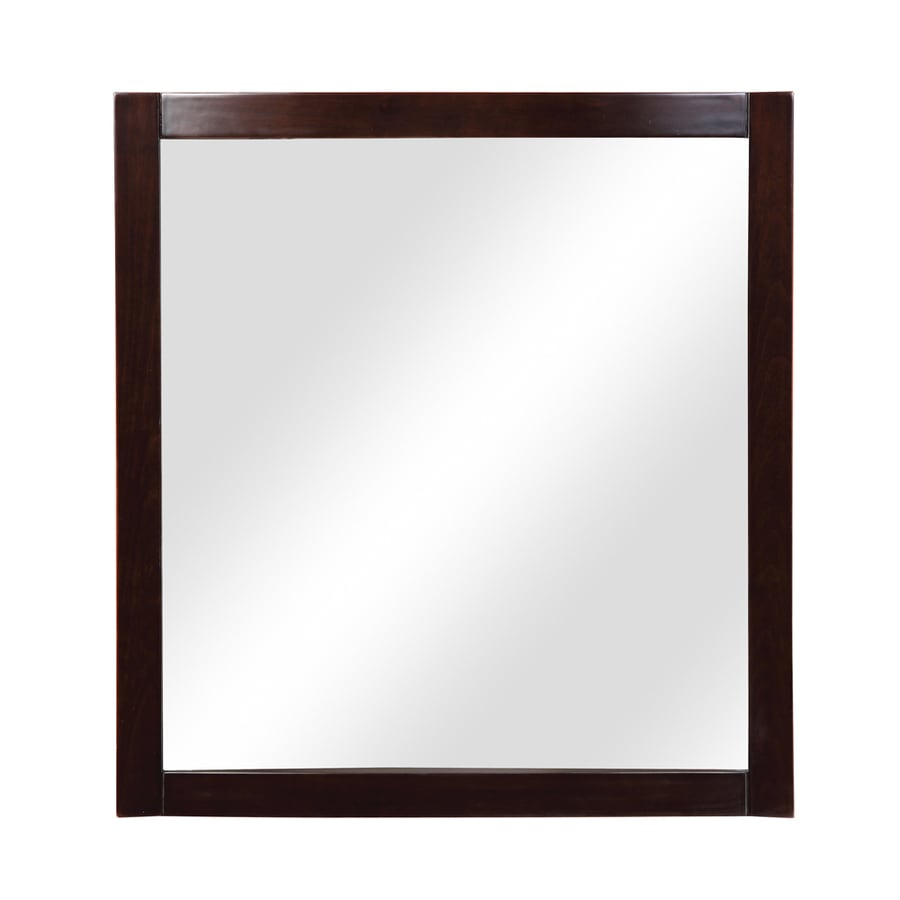 DECOLAV Gavin 30-in W x 32-in H Espresso Rectangular Bathroom Mirror