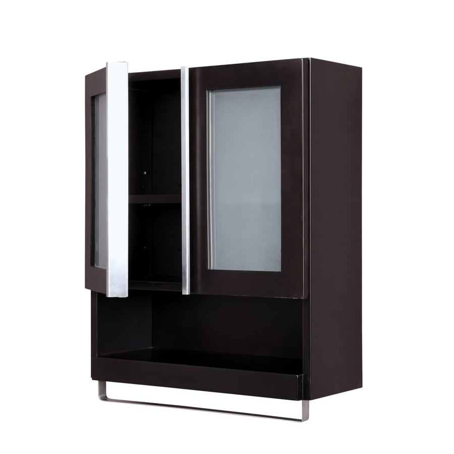 DECOLAV Tyson 22-in W x 26-in H x 8.88-in D Espresso Bathroom Wall Cabinet
