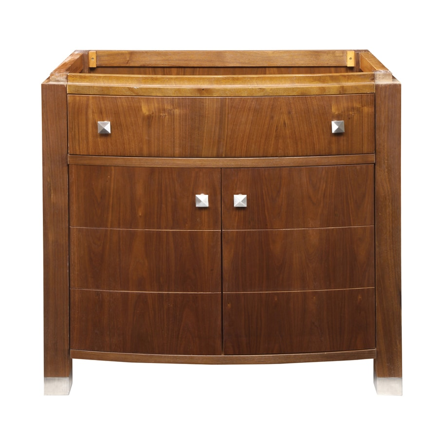 DECOLAV Adrianna Medium Walnut 36.25-in Transitional Bathroom Vanity