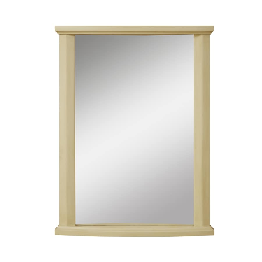 DECOLAV Olivia 24-in W x 32-in H Antique White Rectangular Bathroom Mirror