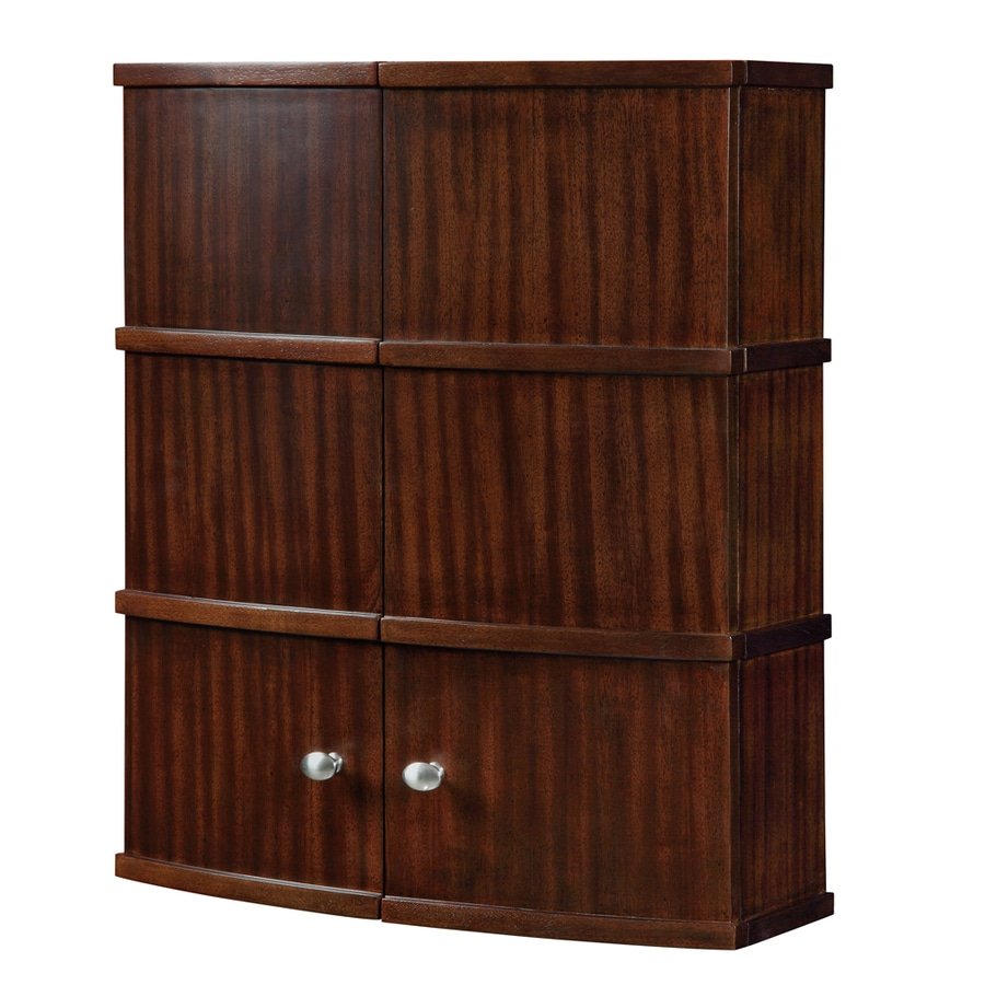 DECOLAV Olivia 22-in W x 26-in H x 8.75-in D Mahogany Bathroom Wall Cabinet