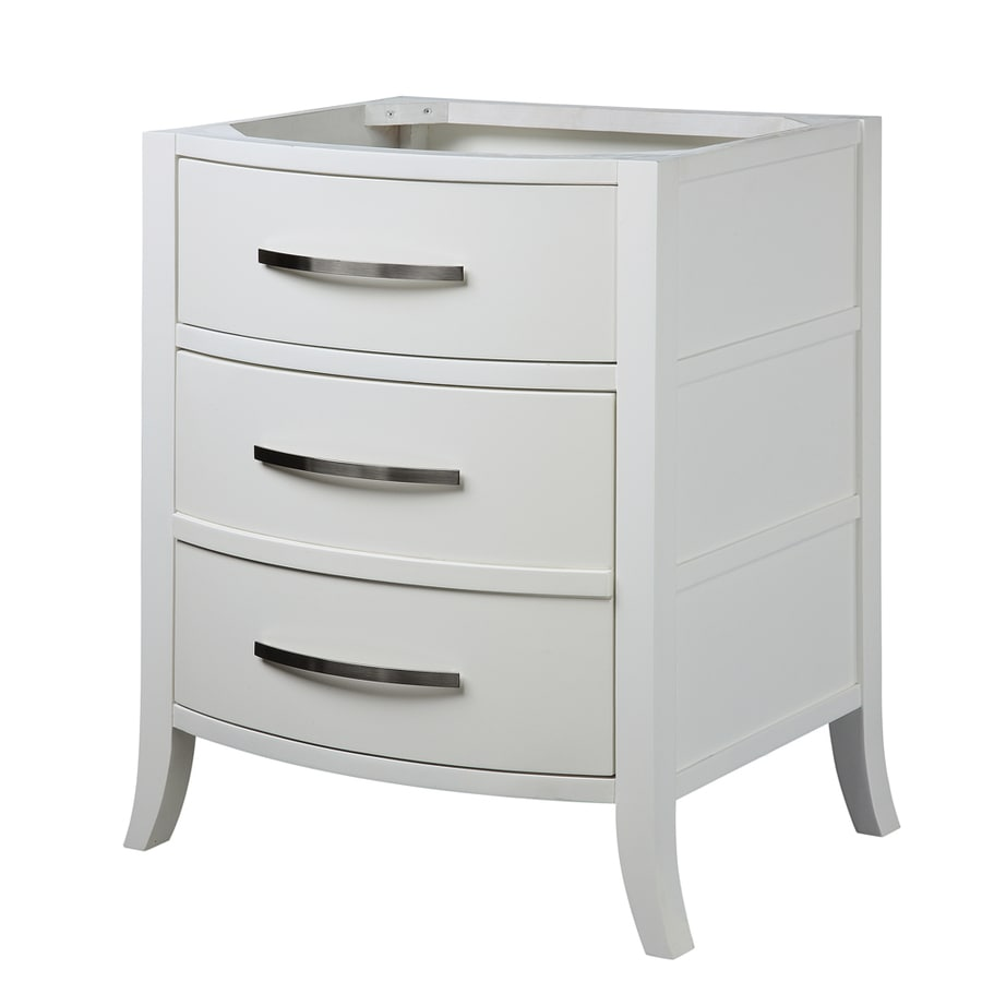 DECOLAV Lola White Bathroom Vanity (Common: 24-in x 22-in; Actual: 25.31-in x 20.75-in)