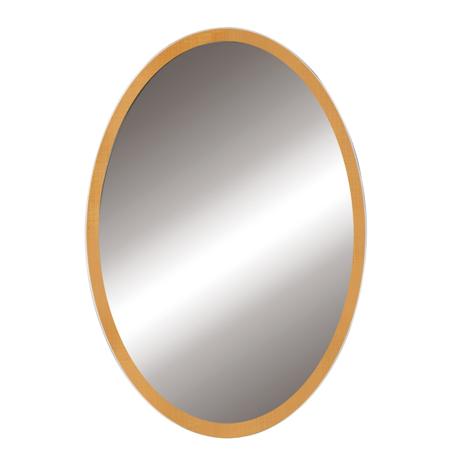 DECOLAV Lola 24-in W x 32-in H Maple Oval Bathroom Mirror