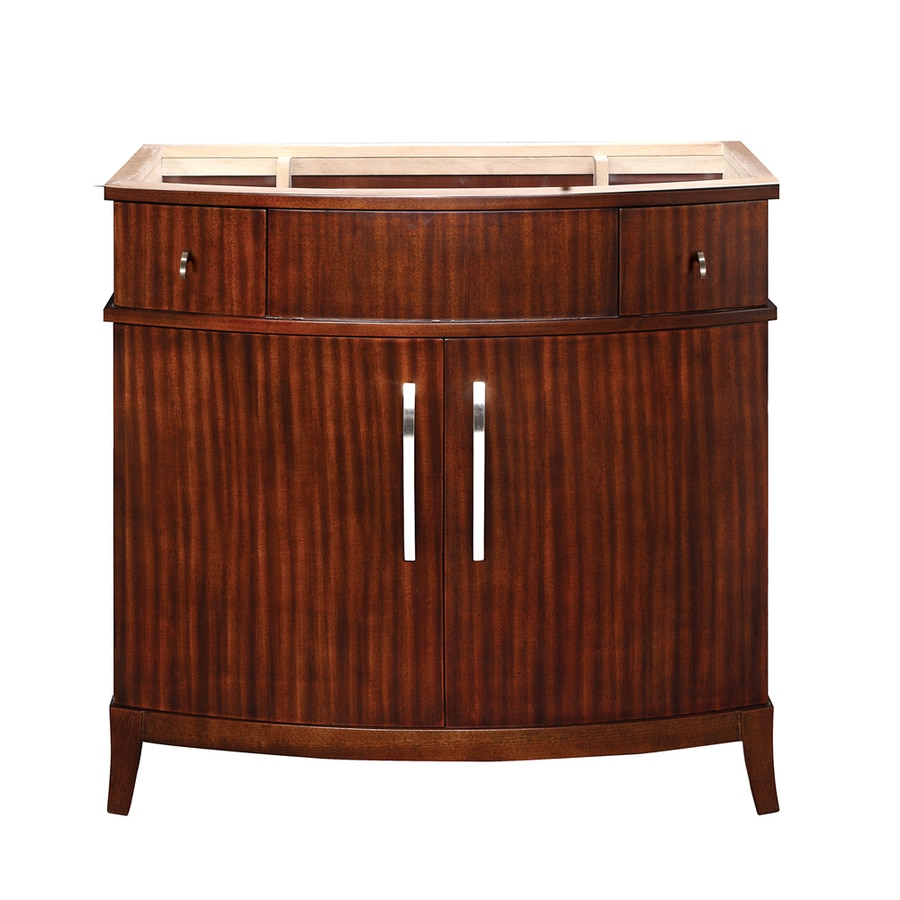 DECOLAV Alexandra Mahogany 38-in Transitional Bathroom Vanity