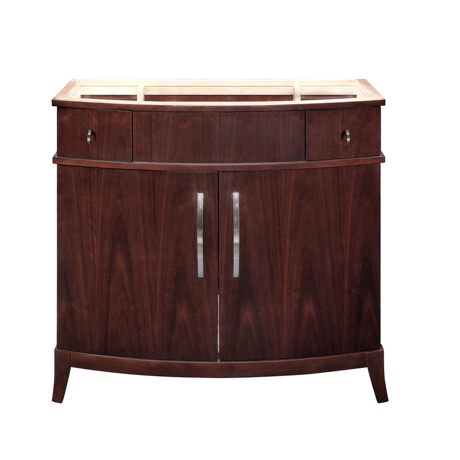 DECOLAV Alexandra Dark Walnut Bathroom Vanity (Common: 40-in x 22-in; Actual: 38-in x 21.5-in)