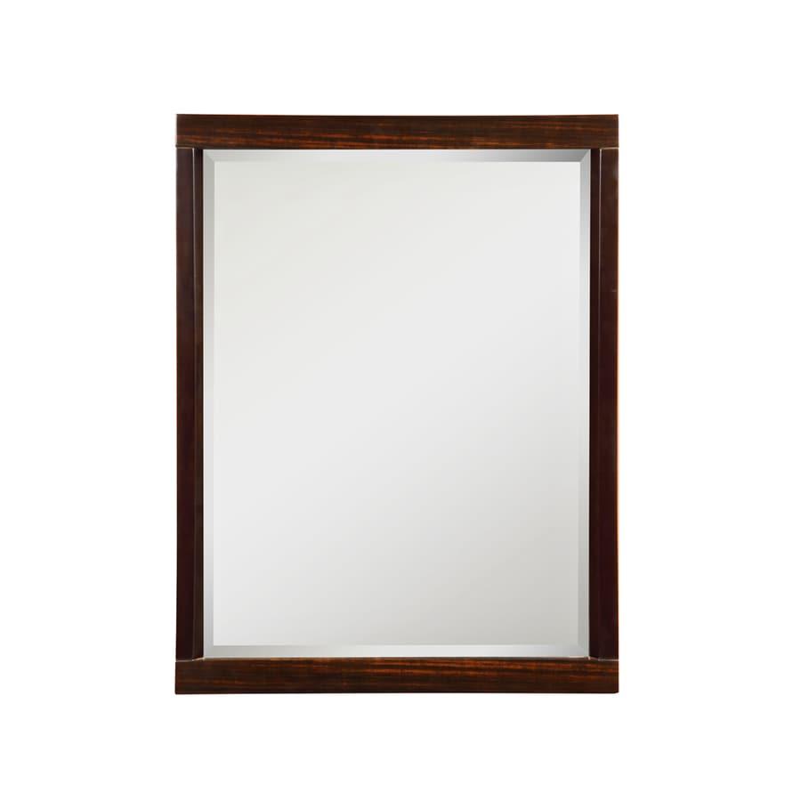 DECOLAV Mila 24-in W x 32-in H Ebony Espresso Rectangular Bathroom Mirror