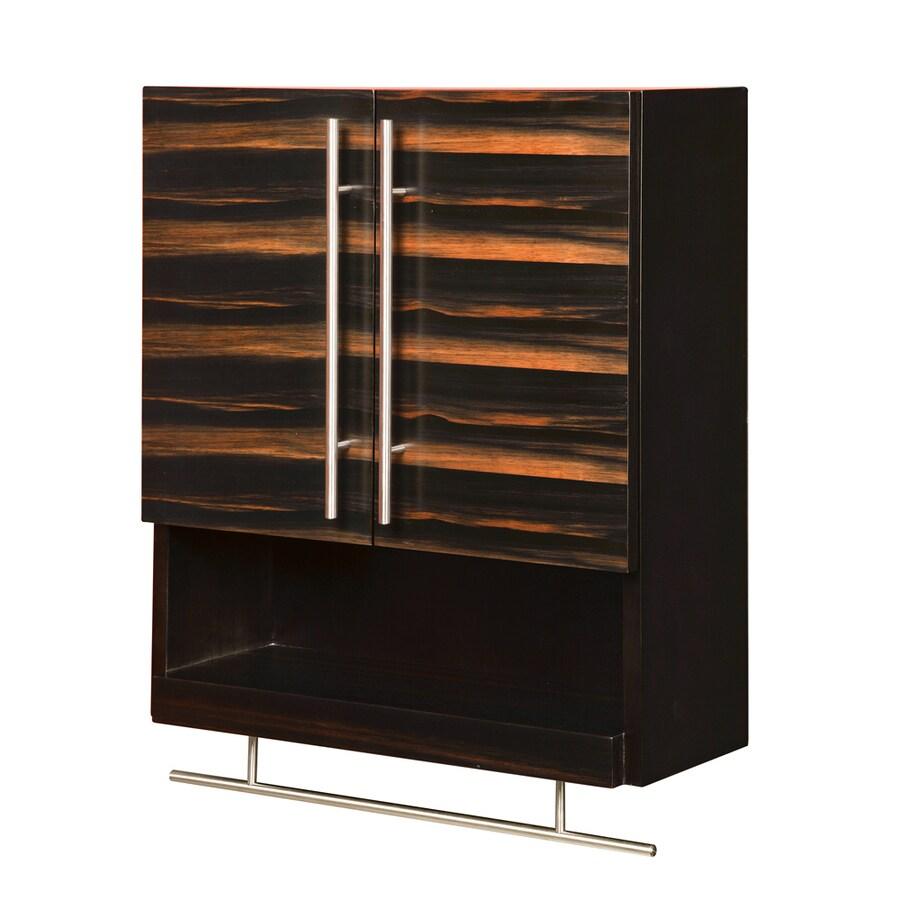 DECOLAV Mila 22-in W x 26-in H x 9-in D Ebony and Espresso Bathroom Wall Cabinet