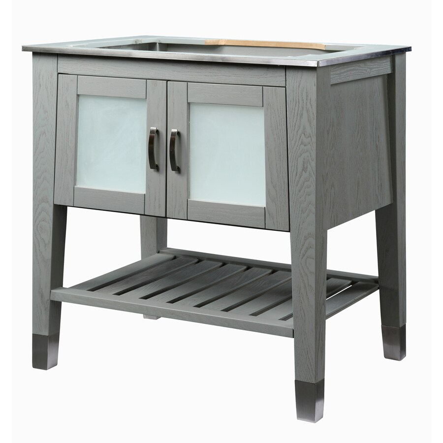 DECOLAV Briana Slate 30.5-in Contemporary Bathroom Vanity