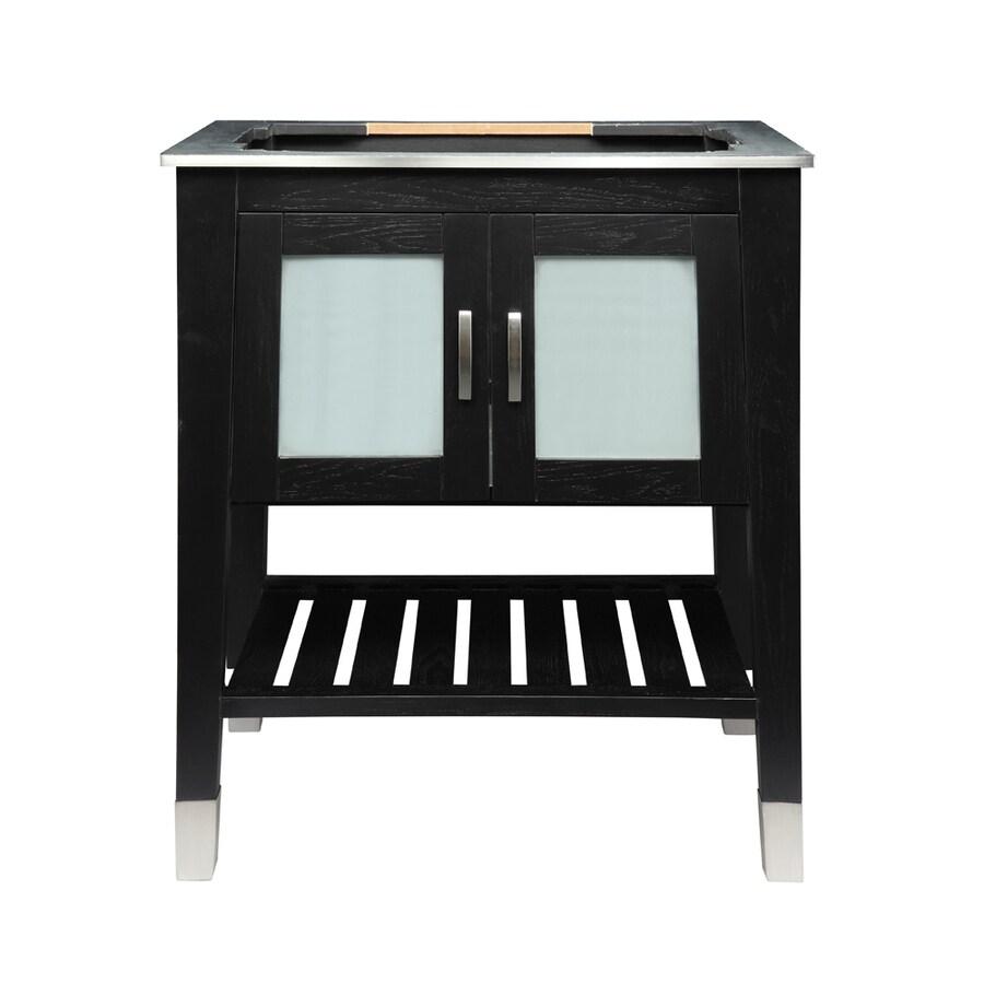 DECOLAV Briana Black Ash 30.5-in Contemporary Bathroom Vanity