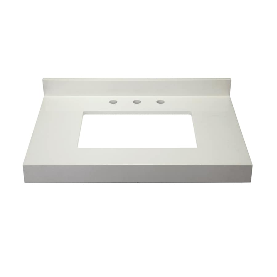DECOLAV Cameron Modular White Quartz Bathroom Vanity Top (Common: 31-in x 22-in; Actual: 32-in x 22-in)