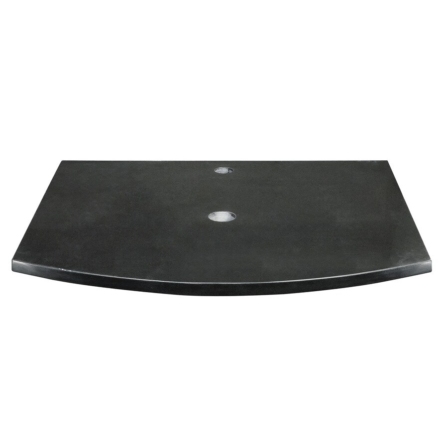 DECOLAV Lola Black Granite Bathroom Vanity Top (Common: 25-in x 22-in; Actual: 25-in x 22-in)