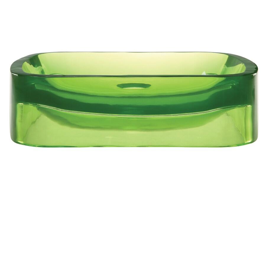 DECOLAV Incandescence Absinthe Resin Vessel Rectangular Bathroom Sink