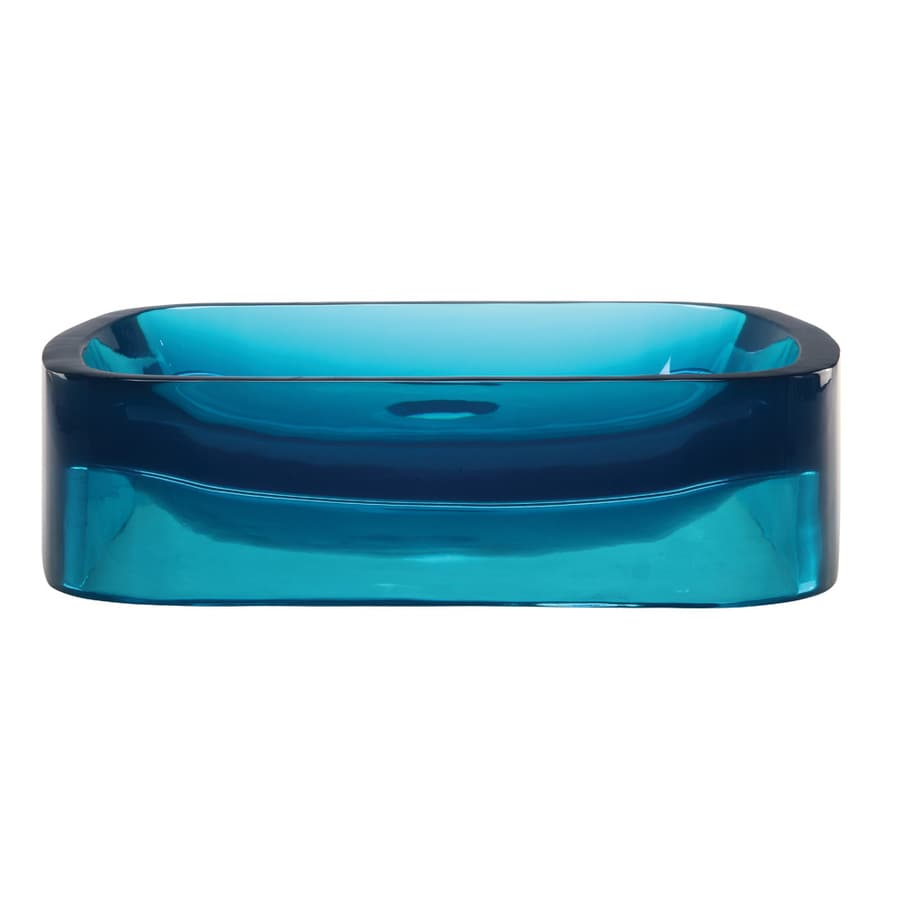 DECOLAV Incandescence Lagoon Resin Vessel Rectangular Bathroom Sink