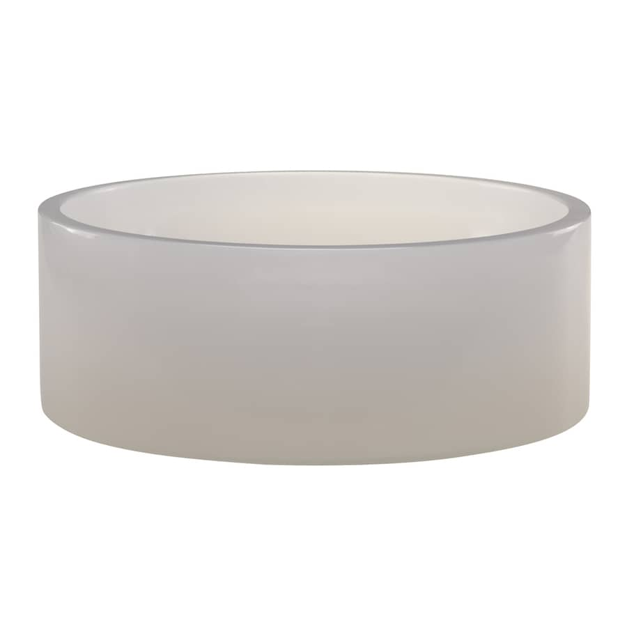 DECOLAV Incandescence Mist Resin Vessel Round Bathroom Sink