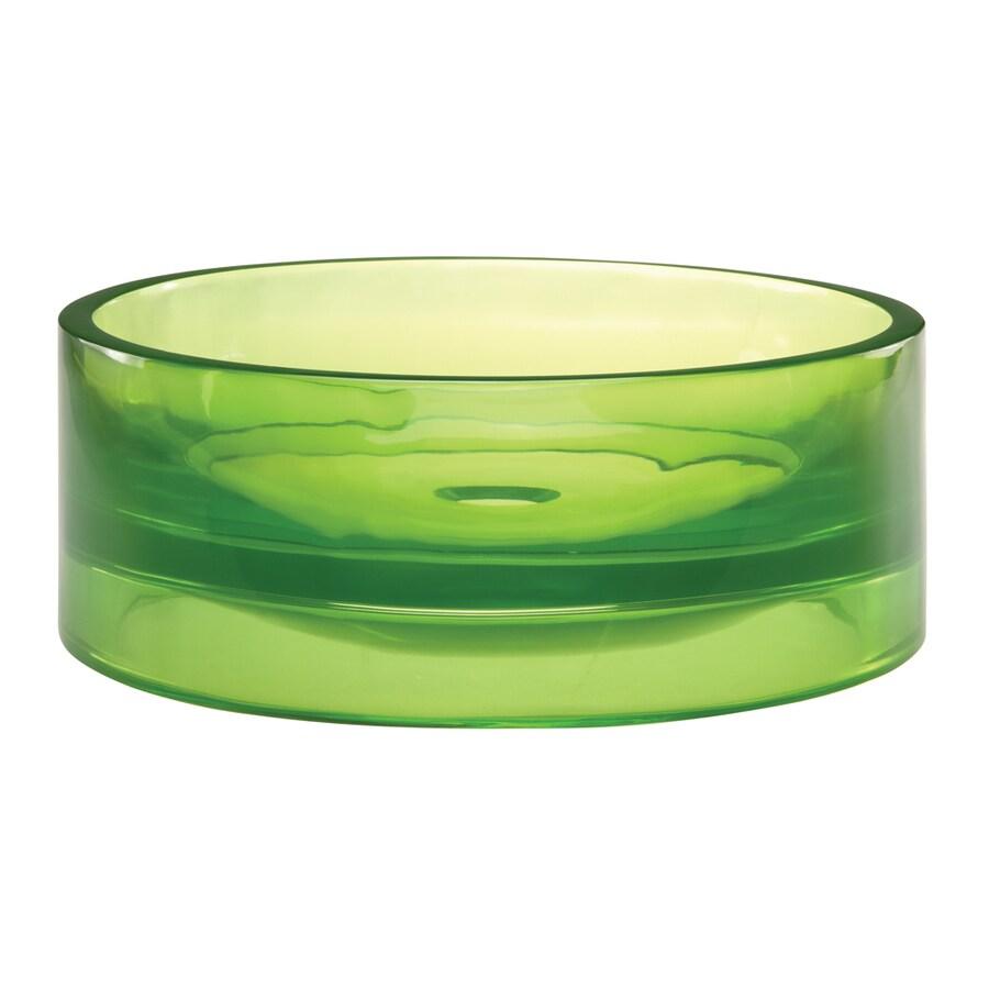 DECOLAV Incandescence Absinthe Resin Vessel Round Bathroom Sink
