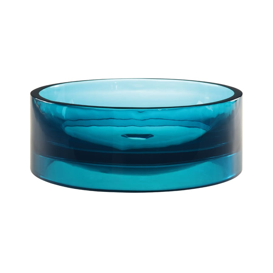 DECOLAV Incandescence Lagoon Resin Vessel Round Bathroom Sink