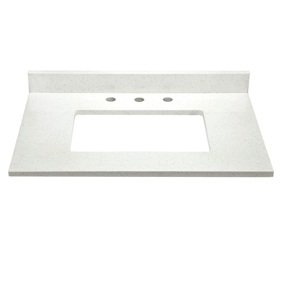 DECOLAV Briana White Solid Surface Bathroom Vanity Top (Common: 31-in x 22-in; Actual: 31-in x 22-in)