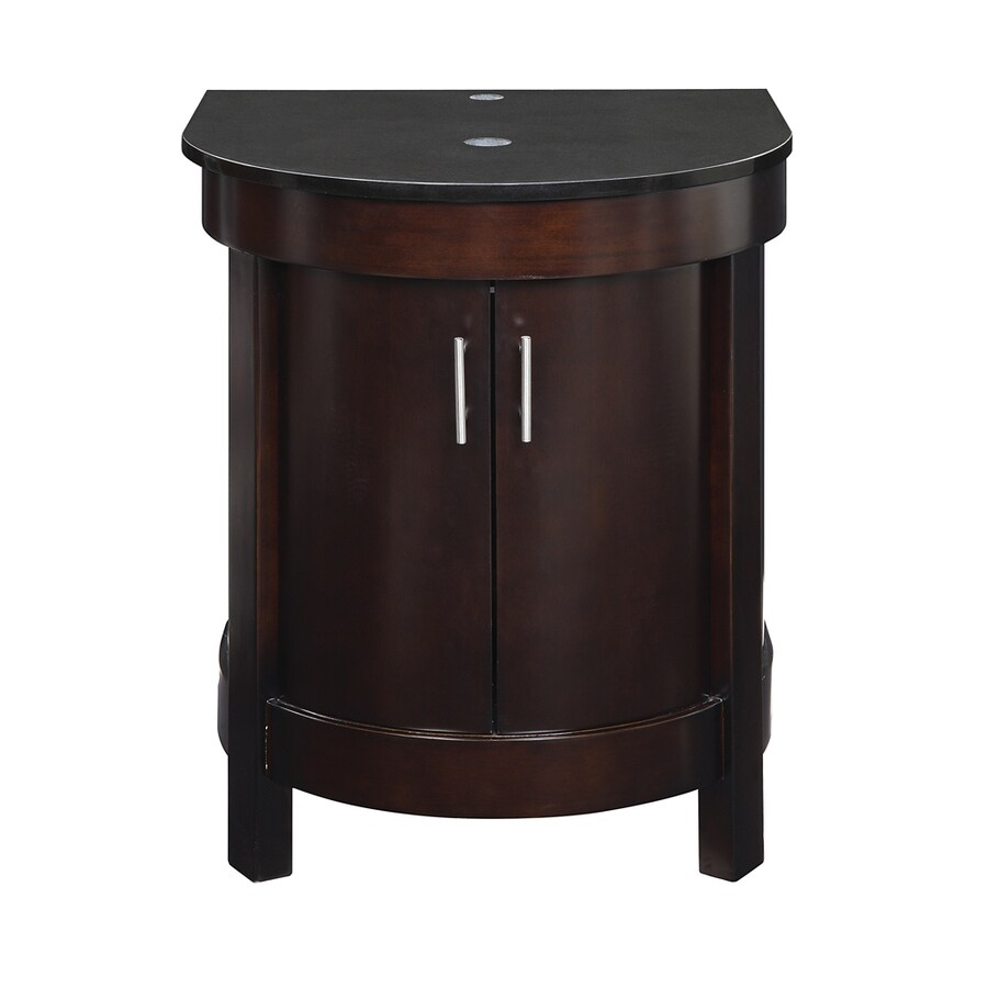 DECOLAV Haddington Espresso (No Sink) Bathroom Vanity with Granite Top (Common: 24-in x 22-in; Actual: 23.25-in x 21.625-in)