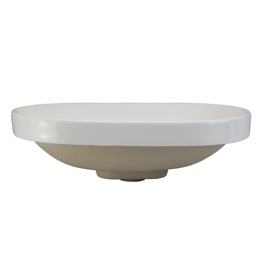 DECOLAV Classically Redefined White Oval Bathroom Sink with Overflow