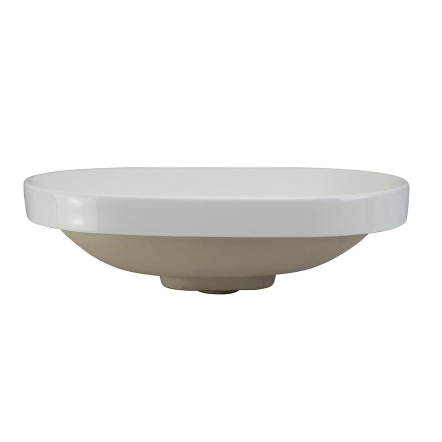 DECOLAV Classically Redefined White Oval Bathroom Sink