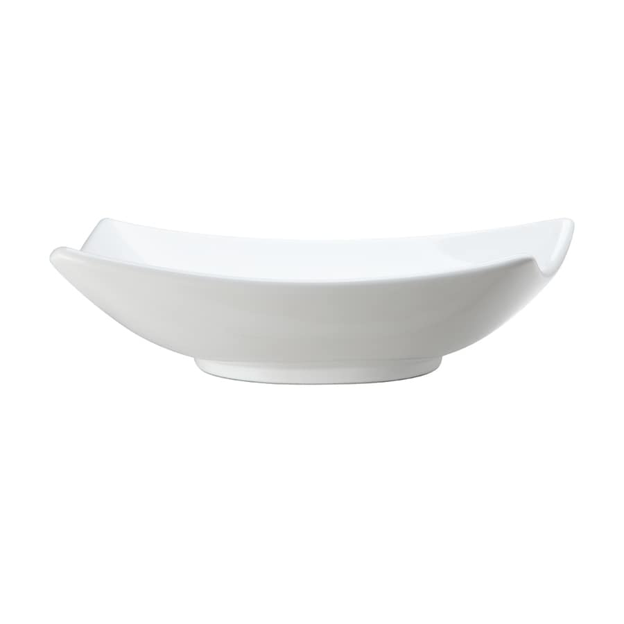 DECOLAV Classically Redefined White Vessel Elliptical Bathroom Sink