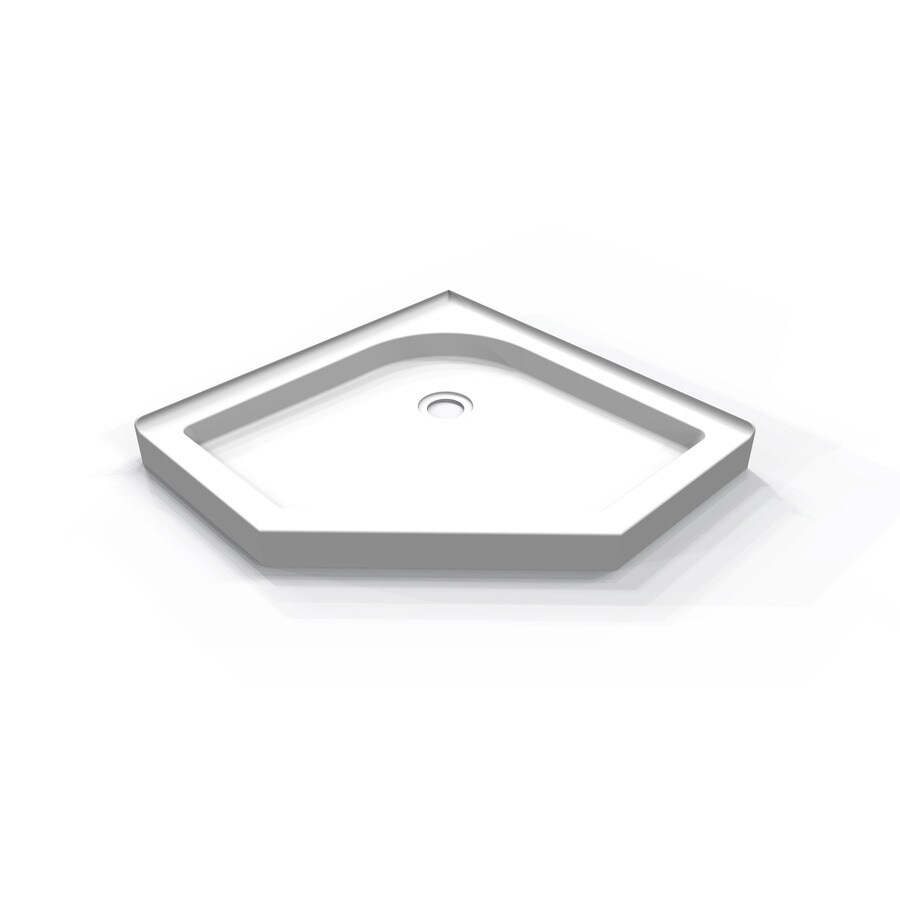 DECOLAV Cascading Falls 35.49-in L x 35.49-in W White Acrylic Neo-Angle Corner Shower Base