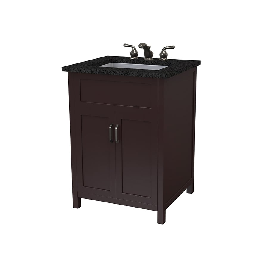 Bathroom Vanity 24 X 21 shop decolav matt muenster designer series espresso undermount