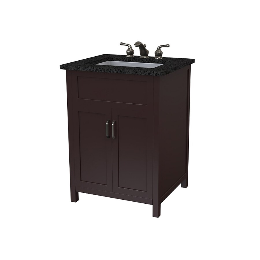 DECOLAV Matt Muenster Designer Series Espresso Undermount Single Sink Bathroom Vanity with Granite Top (Common