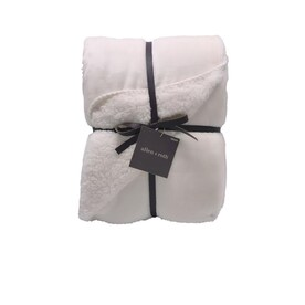 allen + roth Ivory 50-in x 60-in Polyester Throw