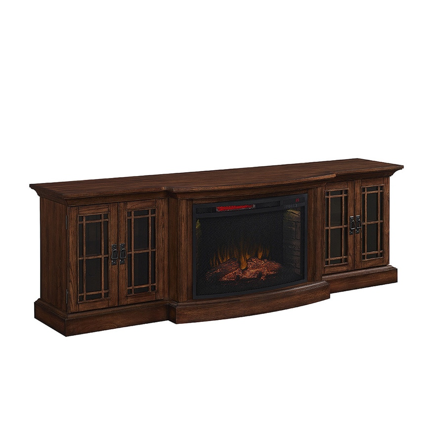 Style Selections 78-in W 5,200-BTU Toasted Almond Wood Infrared Quartz Electric  Fireplace - Shop Style Selections 78-in W 5,200-BTU Toasted Almond Wood