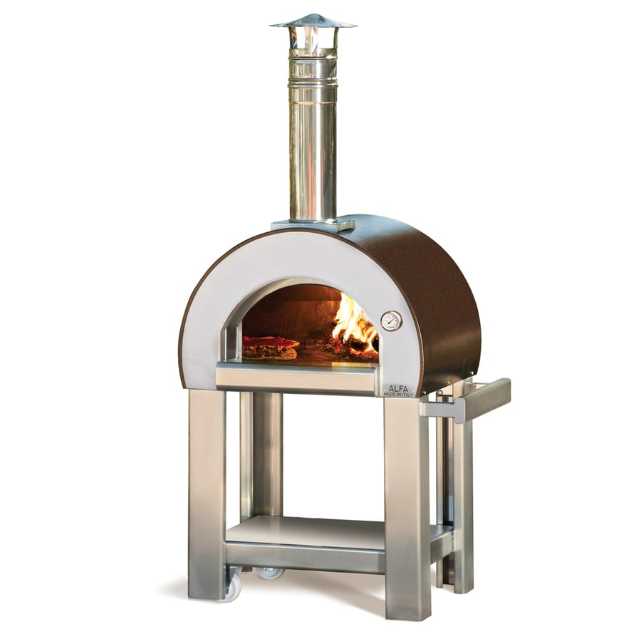 Hearth Oven: Shop Alfa Pizza Forninox Brick Hearth Wood-Fired Outdoor