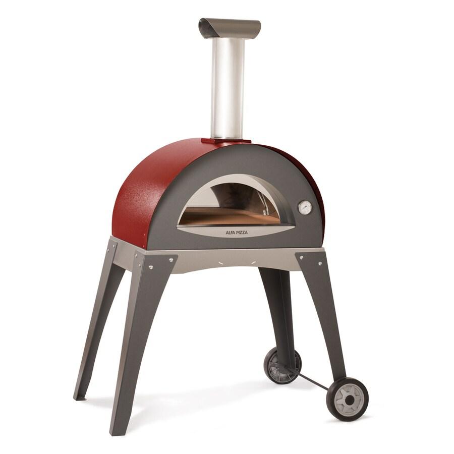 Alfa Pizza Forninox Brick Hearth Wood-Fired Outdoor Pizza Oven